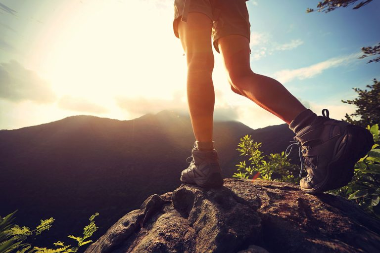 woman hiking boots