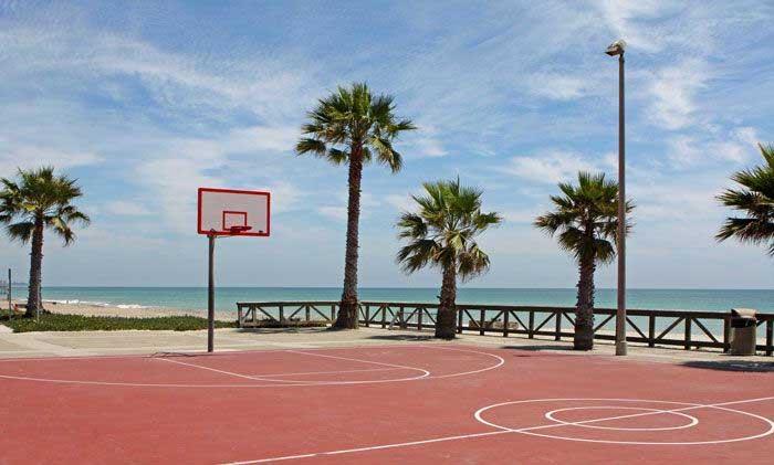 beach road basketball court