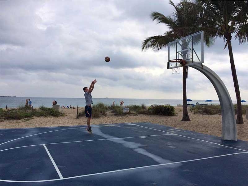 fort lauderdale beach basketball court