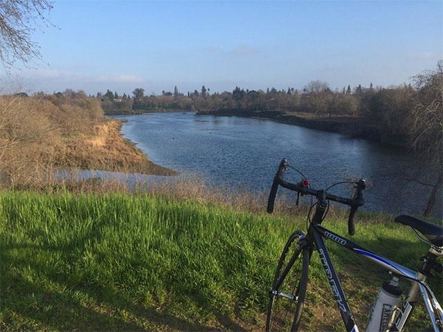 american river bike path