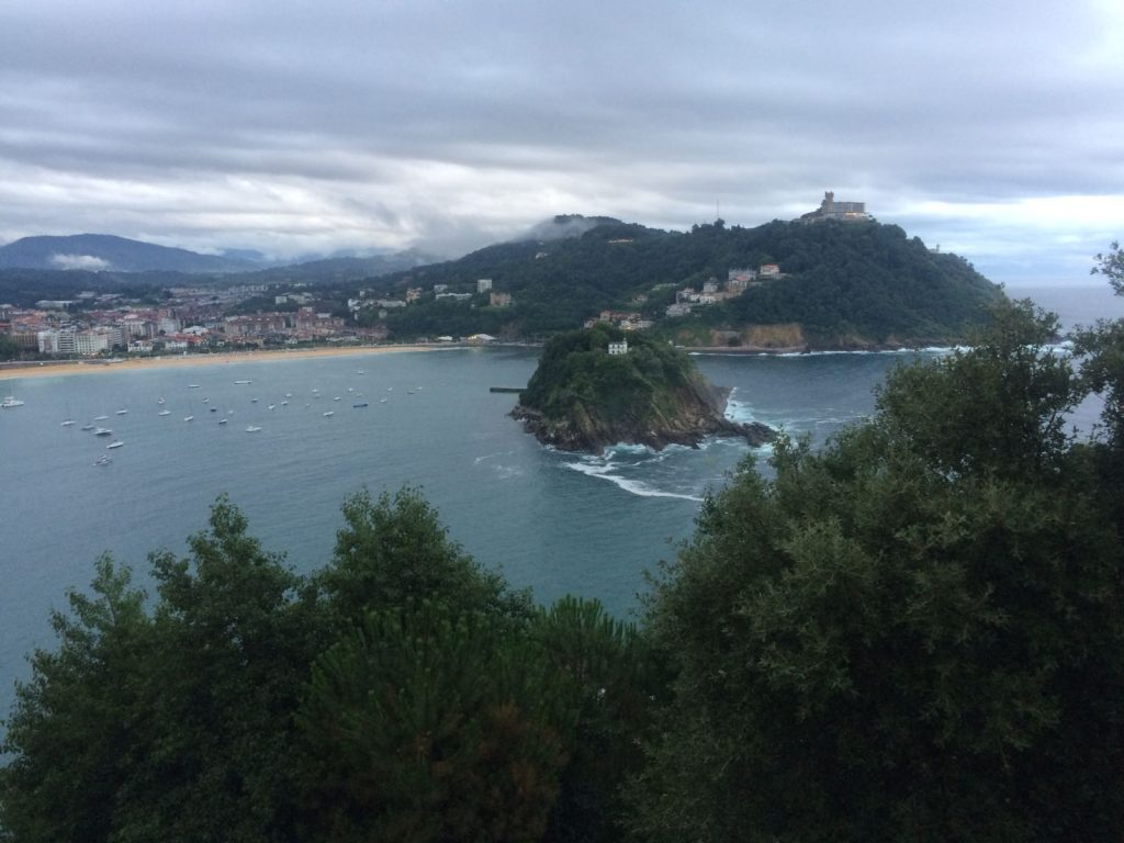 Stunning views while ascending famous Monte Igueldo in San Sebastián
