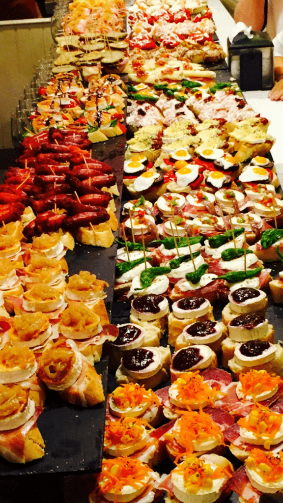 Delicious selection of Pintxos (Tapas) in San Sebastián