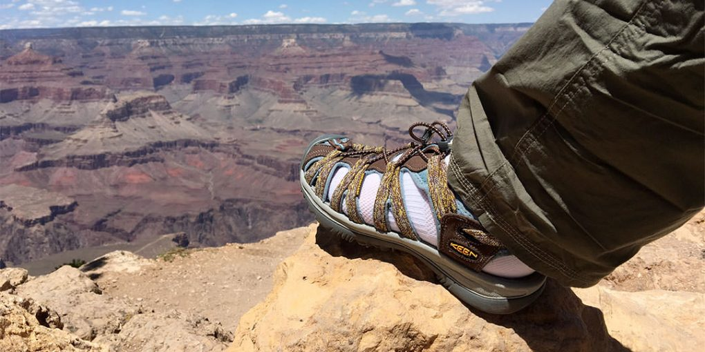 hiking sandals grand canyon