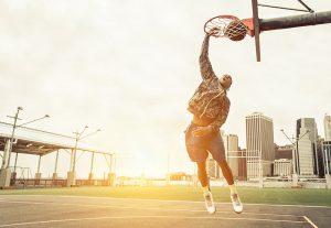 basketball dunking