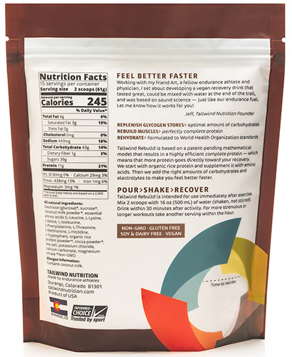 tailwind rebuild chocolate ingredients