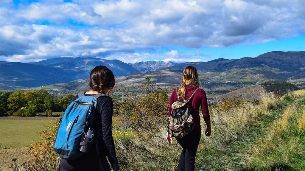 women hiking
