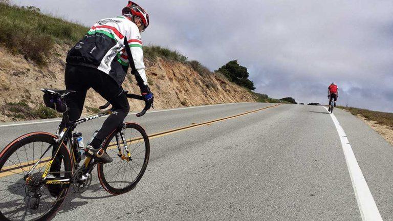 uphill cycling
