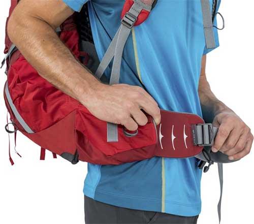 hip belt on Osprey Atmos AG 50 Pack - Men's