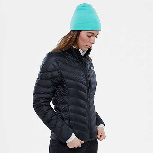 woman in north face jacket