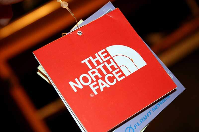the north face clothing tag