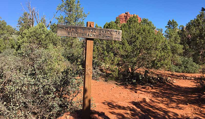 made in the shade trailhead sedona