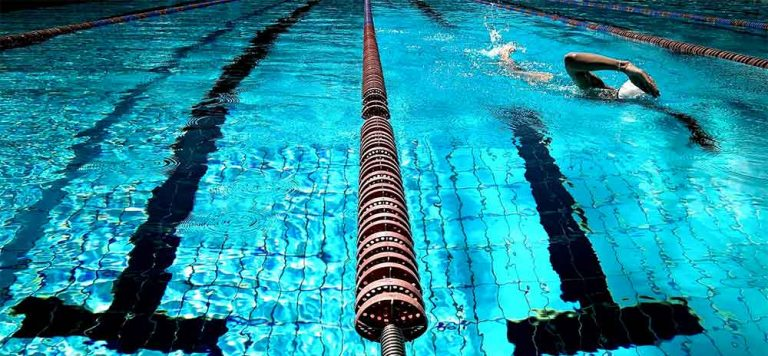 swimmer closeup in pool