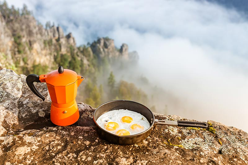 backpacking frypan breakfast