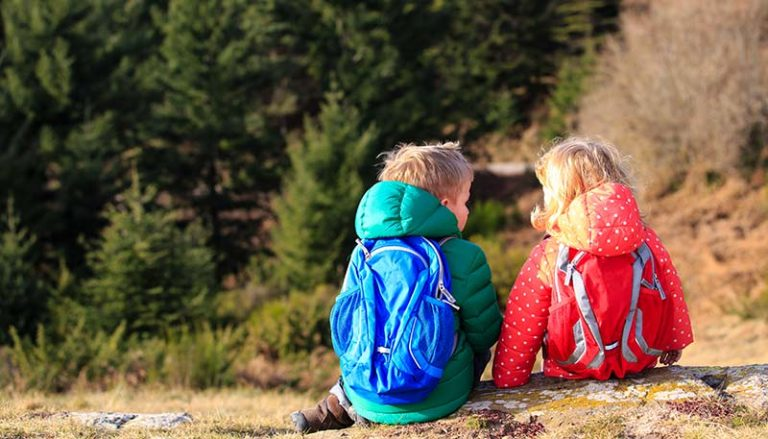 kids backpacking
