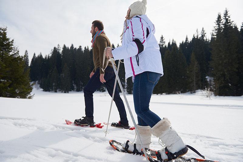 friends snowshoeing