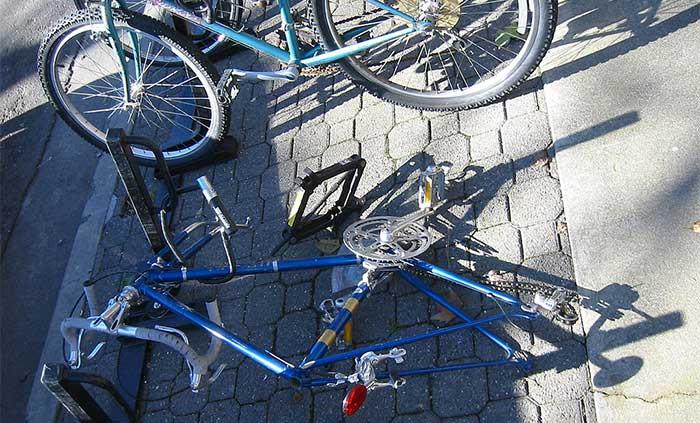 bike with wheels stolen