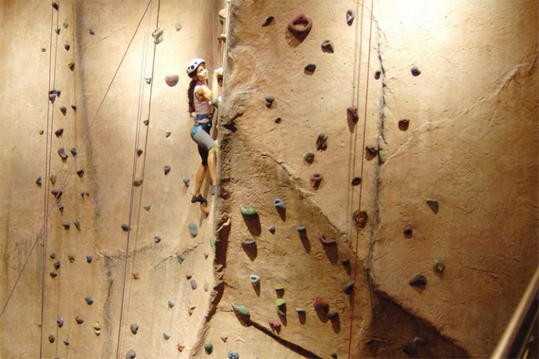 canyon ranch climbing wall