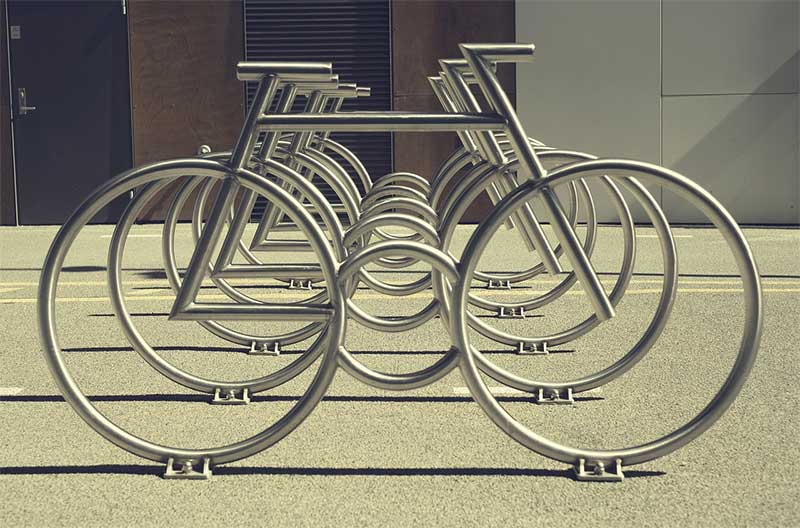 city bike rack
