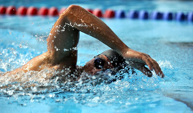 swimmer doing laps