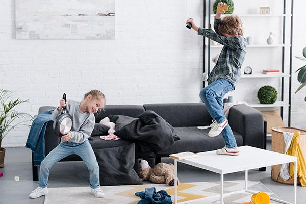 kids dancing at home
