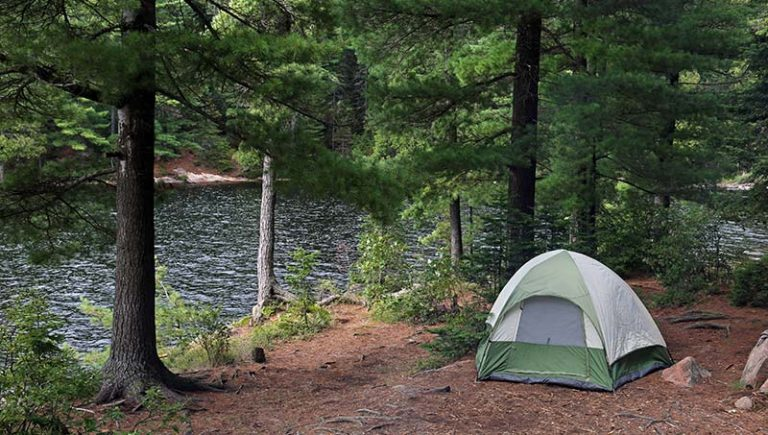 tent by river