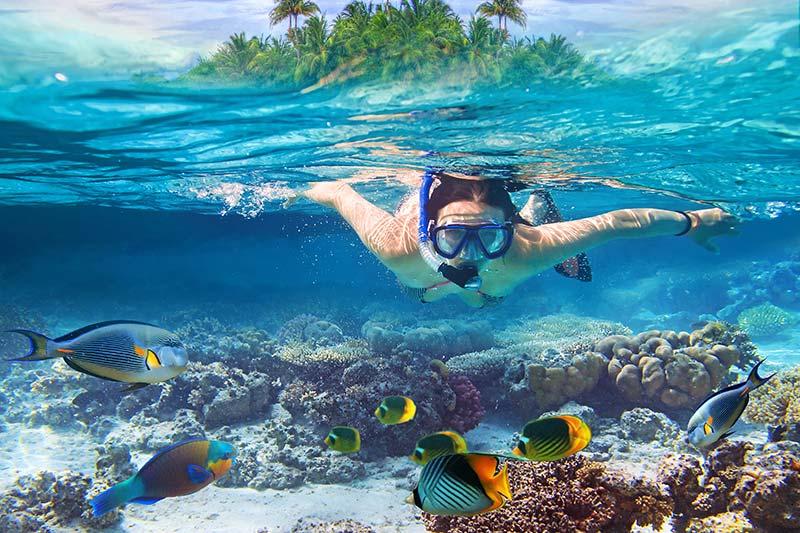 woman snorkeling