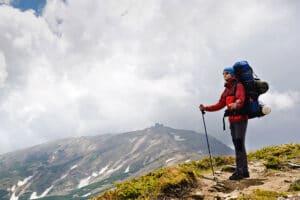 backpacker hiking