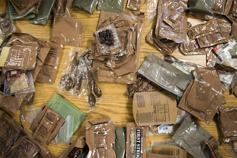 MREs on table