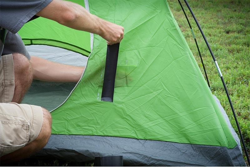 gorilla tape on tent