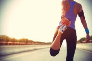 runner stretching legs