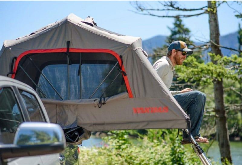 yakima rooftop tent on truck