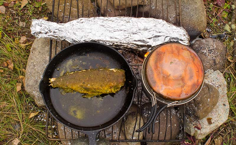 camp cooking with foil