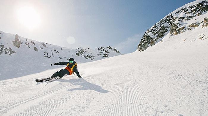 guy skiing whistler mountain
