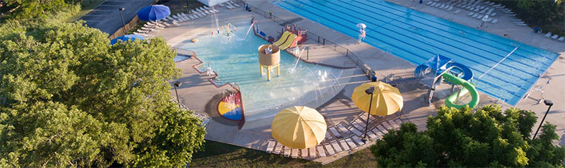 Outdoor pool at YMCA