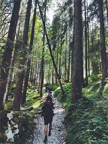 people hiking germany