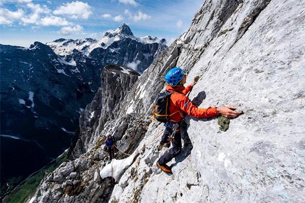 man mountaineering