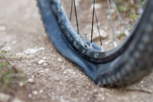 mountain bike flat tire