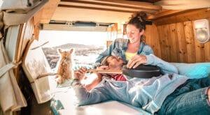 couple in campervan
