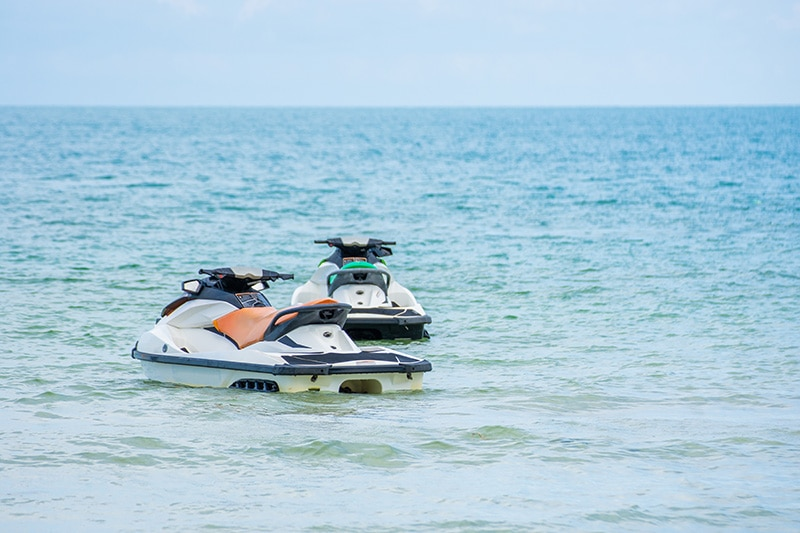 jet skis in ocean