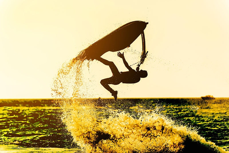 guy doing jet ski tricks