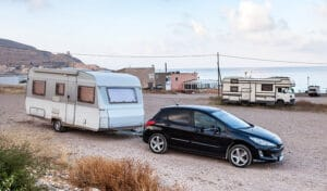 car towing camper