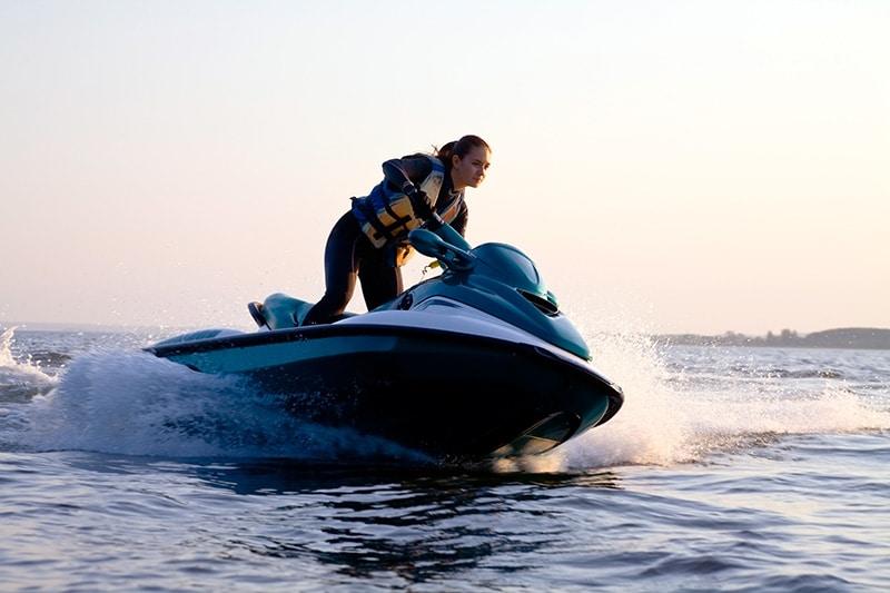 girl riding jetski