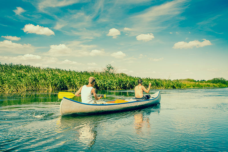 guys in canoe