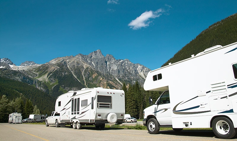 rvs in mountains