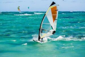 guy windsurfing