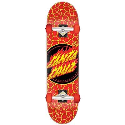 Santa Cruz Flame Dot Large 8.25 Skateboard Complete