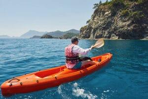 kayak in ocean