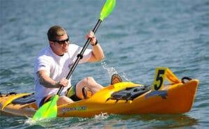 guy kayaking