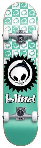 Blind Checkered Reaper Soft Wheels Skateboard Complete