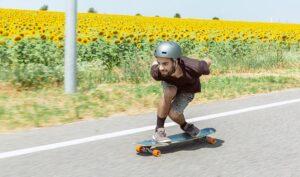 skater on longboard